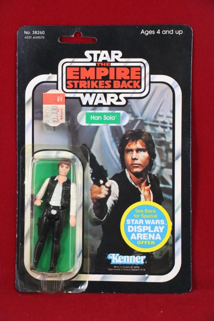ESB Kenner Star Wars Han Solo 45 Back A Front