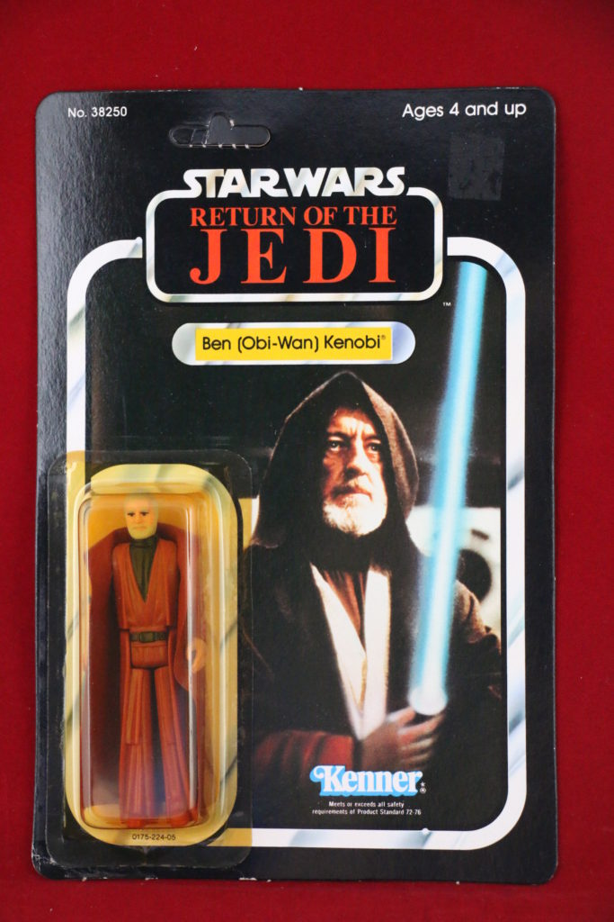ROTJ Kenner Star Wars Ben Obi Wan Kenobi 77 Back A Front