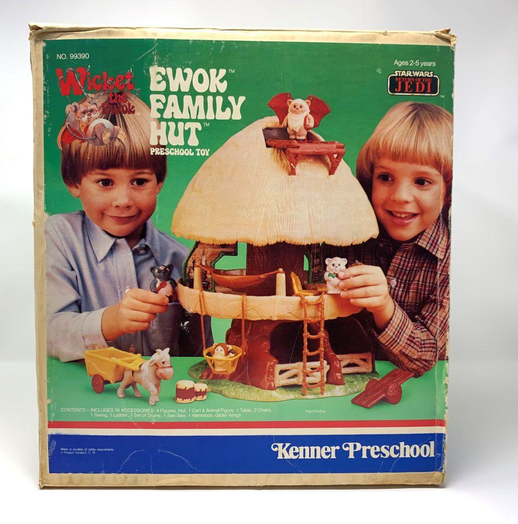 Kenner Preschool Ewok Family Hut Playset Front