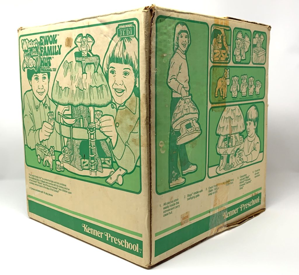 Kenner Preschool Ewok Family Hut Playset Back
