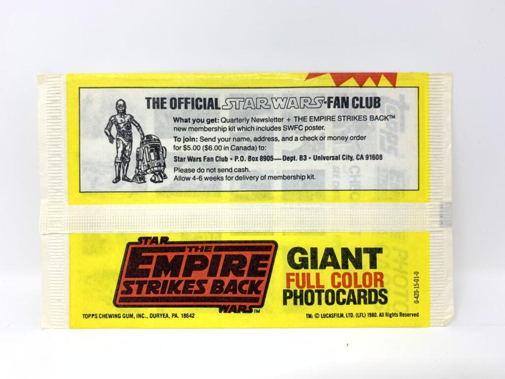 Empire Strikes Back Giant Topps Cards